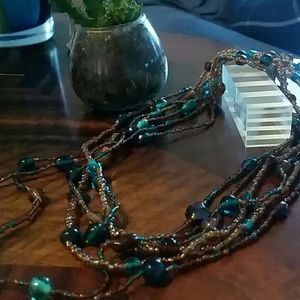 Three gorgeous loop beaded necklaces